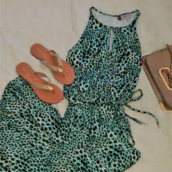 8b14433a607d Jennifer Lopez Dresses | Green And Black Animal Print Maxi Dress ...